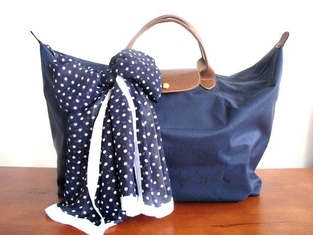 Платок как украшение для сумки