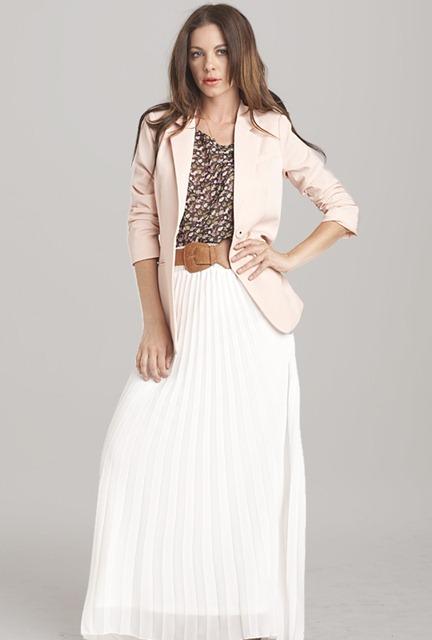 С чем одевать длинную белую юбку
