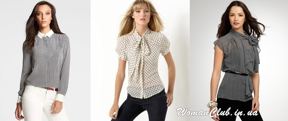 Женская деловая блуза в рисунок