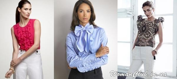 Романтическая офисная блузка