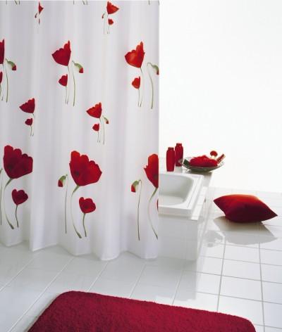 Мягкие шторки для ванной из полиэтилена, винила, тканевые шторки