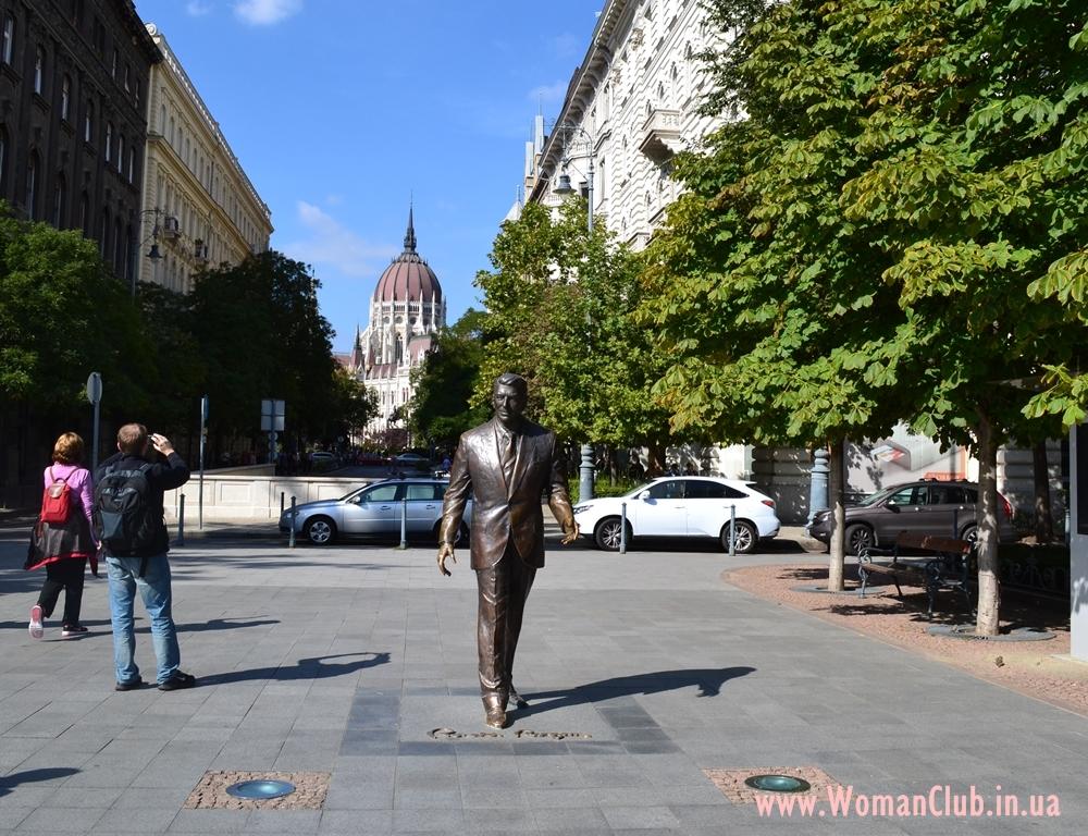 Что посмотреть в Будапеште за 3 дня - памятник Рональду Рейгану
