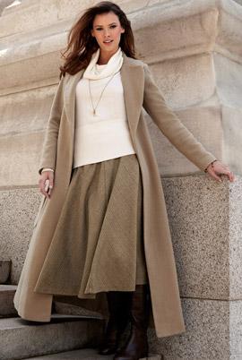 С чем носить длинное пальто