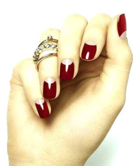форма ногтей для новогоднего маникюра 2015