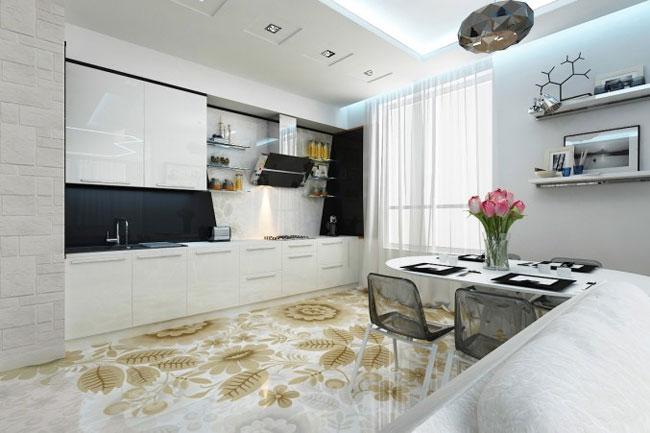 наливные полы для кухни