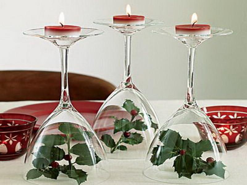 подсвечники для новогоднего стола своими руками