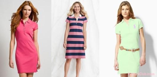 Модные летние платья 2015 - застежка-поло