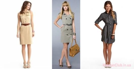 Модные летние платья 2015 - сафари и милитари