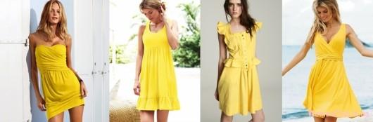 Модные летние платья 2015 - желтый цвет