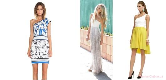 Модные летние платья 2015 - ассиметрия
