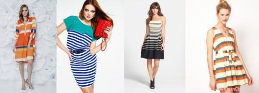 Модные летние платья 2015 - геометрический узор