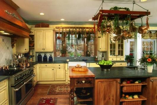 детали деревенского стиля для кухни