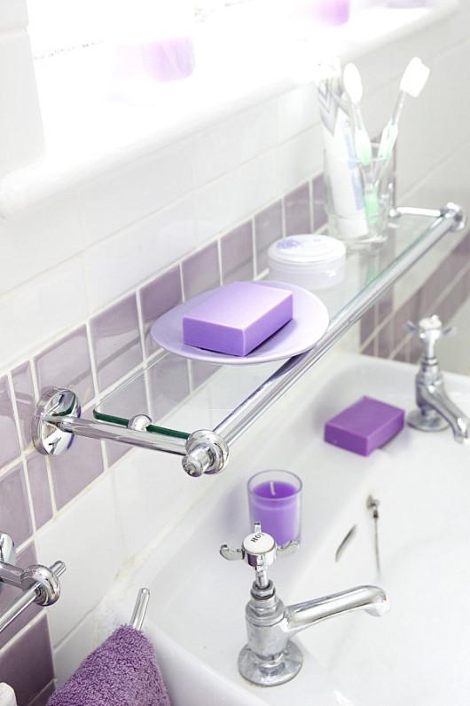 стеклянные полочки для ванной
