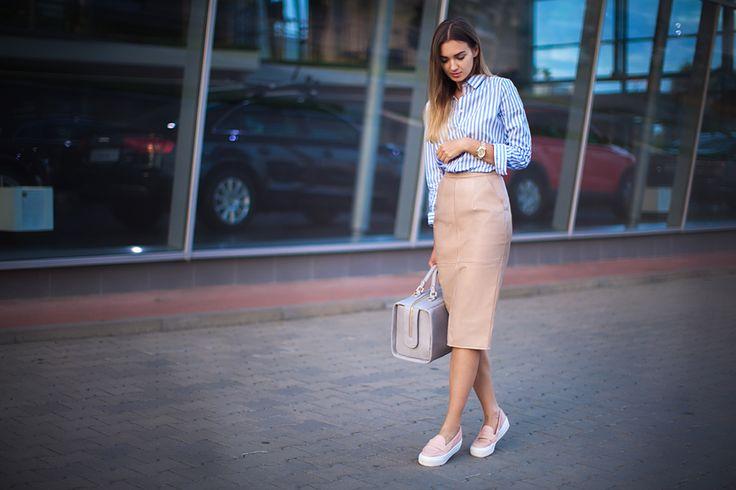 Слипоны и платье