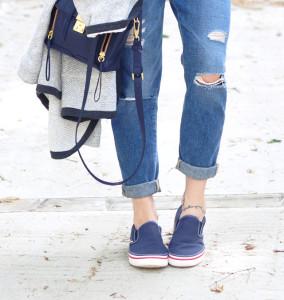 С чем носить слипоны женские (фото)