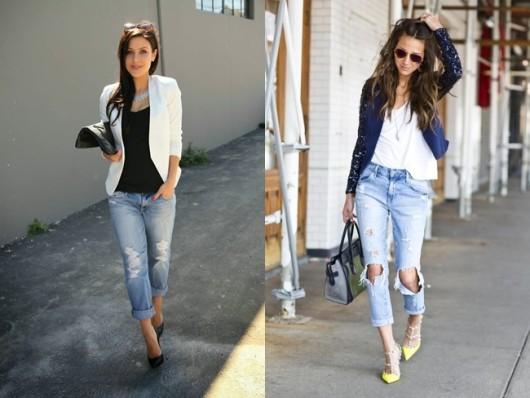 рваные джинсы casual