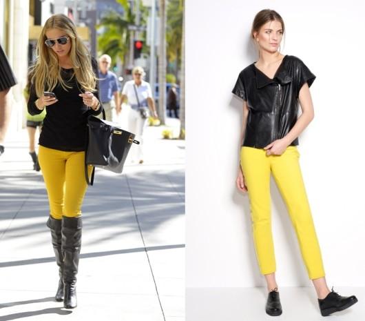 обувь под желтые брюки