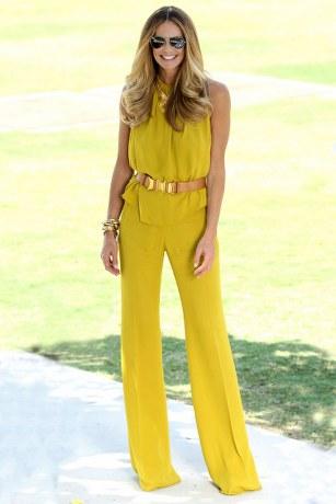 С чем носить желтые брюки: модные советы