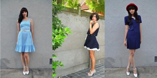 белые туфли к синему платью