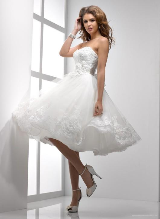свадебные платья короткие модели