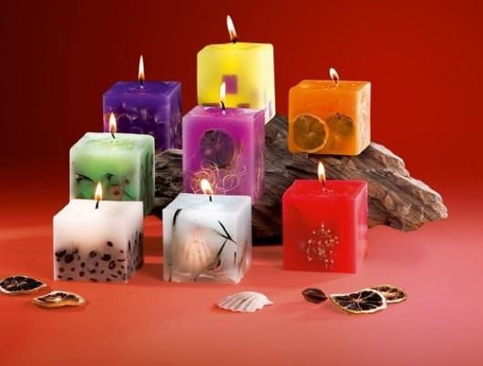 декоративные свечи хенд-мейд
