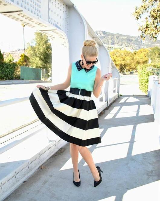 полосатая юбка-солнце