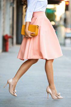 юбка-солнце в деловом стиле