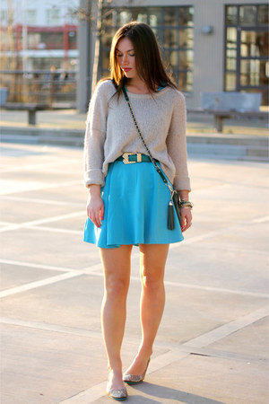 голубая юбка-солнце