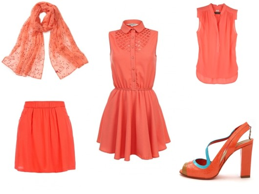 модные цвета 2016 - коралловый