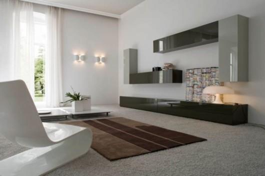 освещение гостиная минимализм