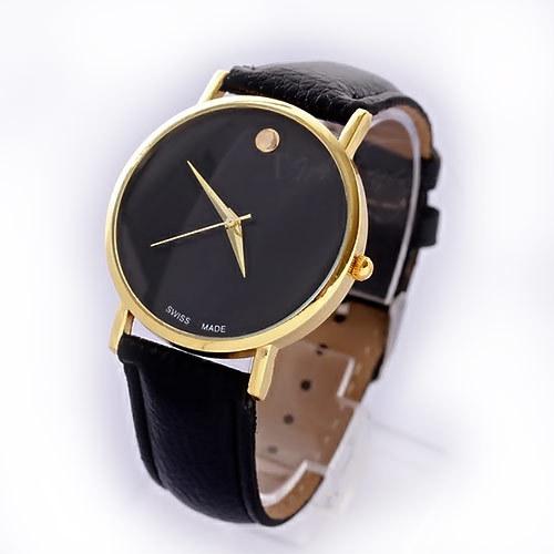 женские часы на кожаном ремешке для офиса