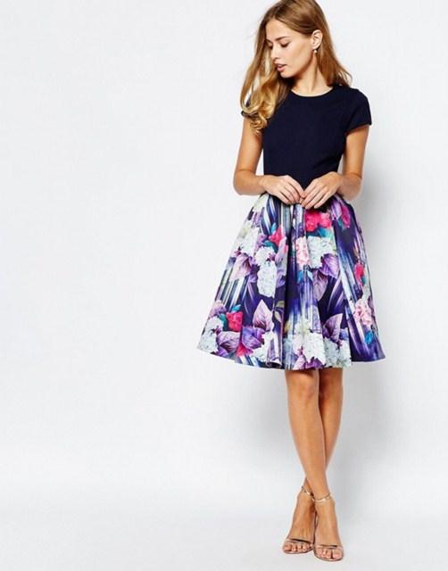 модные платья 2016 - отрезная талия