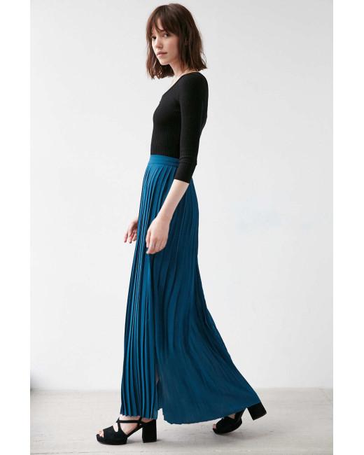 с чем носить плиссированную юбку в пол