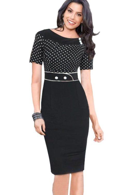 черные летние платья для офиса