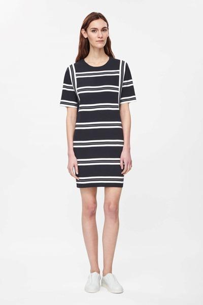 черные летние платья для офиса полоска 2016