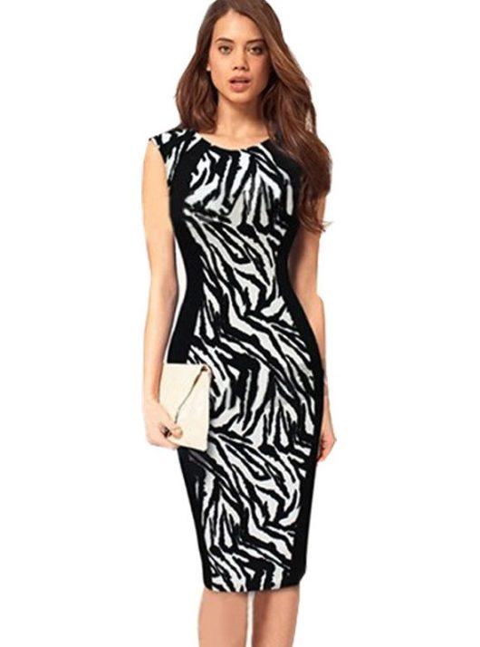 черные летние платья для офиса 2016