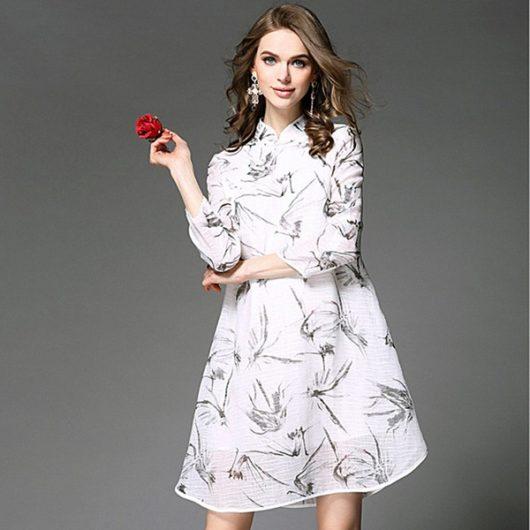 летнее офисное платье 2016 свободный фасон