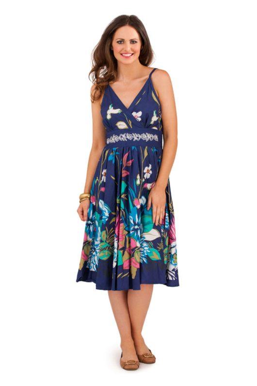 Модные летние платья 2016 для женщин за 40 (ФОТО) цветочный рисунок