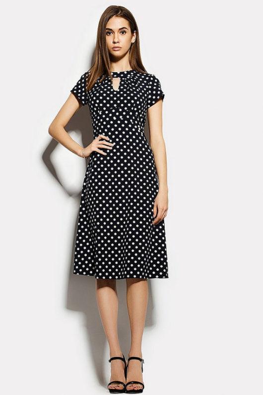 Модные летние платья 2016 для женщин за 40 (ФОТО) горошек