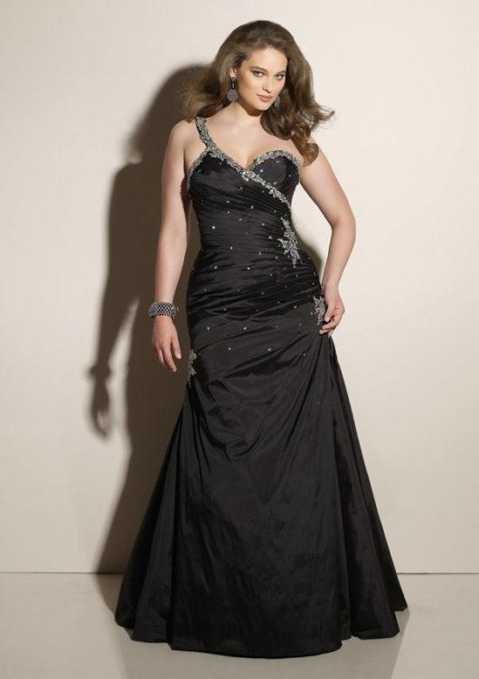 вечерние платья для полных ассиметрия