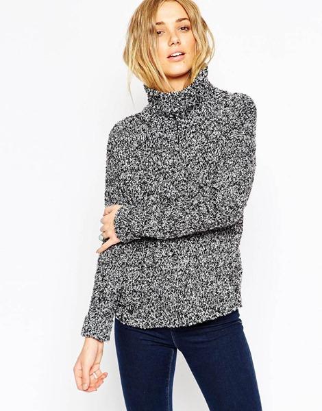 женские свитера букле и меланж