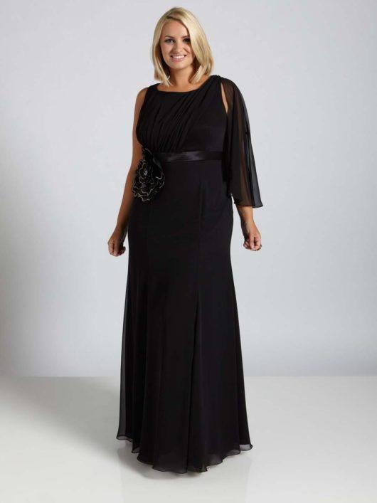 Длинные вечерние платья для полных