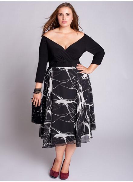 вечерние платья для полных открытые плечи