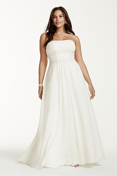 свадебные платья для полных с открытыми плечами