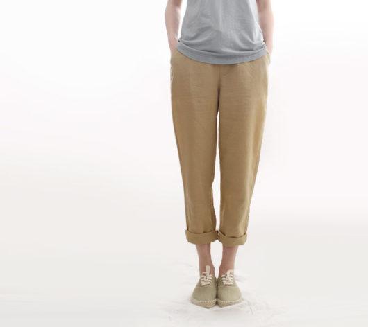 бежевые брюки женские с чем носить