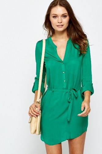 цветные платья-рубашки