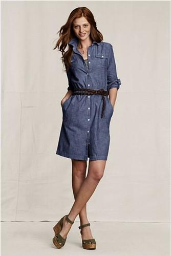 джинсовые платья-рубашки