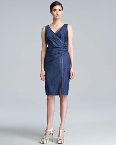 джинсовые платья-миди