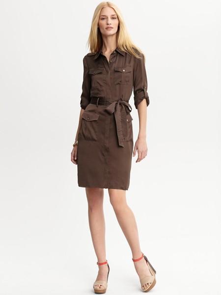 платья-рубашки в стиле сафари
