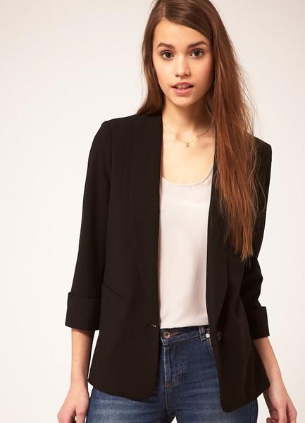 женский пиджак с укороченным рукавом